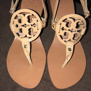 bf4f249363c Tory Burch Shoes - Tory Burch Nude Holly heeled sandal EUC